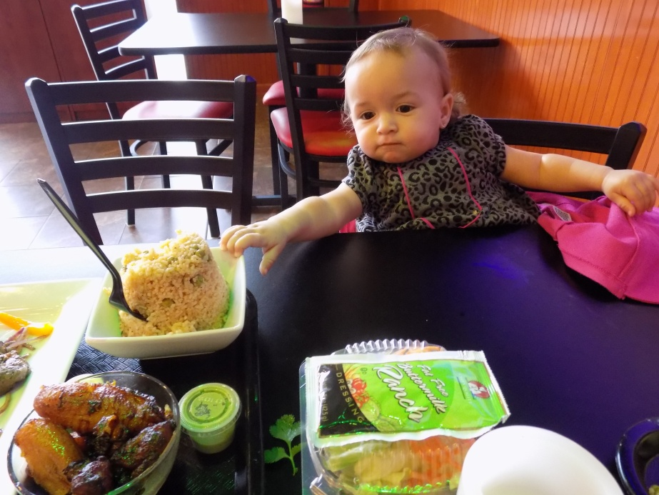 Elleanna couldn't get enough of the Dominican Rice!